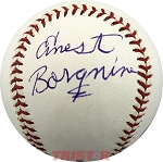 Ernest Borgnine Autographed Official Major League Baseball