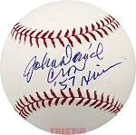 John David Crow Autographed Official Major League Baseball Inscribed 57