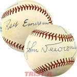 Roy Emerson and John Newcombe Autographed Official American League Baseball