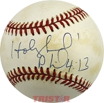 Evander Holyfield Autographed Official American League Baseball Inscribed Phil 4:13
