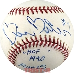 Bill Barber Autographed Official ML Baseball Inscribed #7 HOF 1990 Flyers