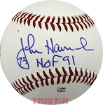 John Hannah Autographed Official Southern League Baseball Inscribed HOF 91