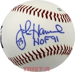 John Hannah Autographed Official Southern League Baseball Inscribed 73 HOF 91