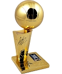 Steph Curry & Klay Thompson Autographed Warriors 2018 NBA Champions Replica Trophy