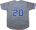 Don Sutton Autographed Dodgers Gray Custom Jersey Inscribed HOF 98