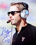 Kliff Kingsbury Autographed Texas Tech Red Raiders 8x10 Photo Inscribed Guns Up