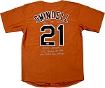 Greg Swindell Autographed Texas Longhorns Custom Jersey Multiple Inscriptions LE of 5