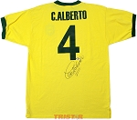 Carlos Alberto Autographed Brazil Home Shirt