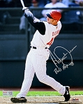 Adam Dunn Autographed Cincinnati Reds 8x10 Photo Inscribed Reds HOF 18