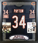 1985 Chicago Bears Autographed Framed Jersey - 31 Signatures + Walter Payton Signed 8x10 Photo