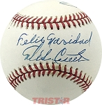 Mike Cuellar Autographed Official AL Baseball Inscribed Feliz Navidad