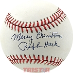 Ralph Houk Autographed Official NL Baseball Inscribed Merry Christmas