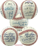 Puerto Rico Born Players Autographed Baseball 9 Signatures - Cepeda, Arroyo, Alomar, Clemente Jr & More