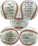 No-Hit Pitchers Autographed NL Baseball 8 Signatures - Erskine, Montefusco, Vander Meer & More