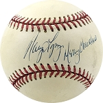Nancy Lopez Autographed Official NL Baseball Inscribed Merry Christmas