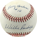 Willie Randolph Autographed Official AL Baseball Inscribed Merry Christmas