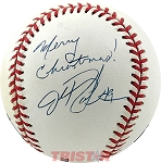 John Rocker Autographed Official Major League Baseball Inscribed Merry Christmas