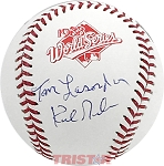 Tommy Lasorda & Kirk Gibson Autographed Official 1988 World Series Baseball