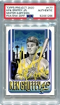 Ken Griffey Jr. Autographed Topps Project 2020 Card #177 Inscribed HOF 16 - Yellow 1/1