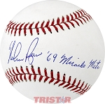 Nolan Ryan Autographed Major League Baseball Inscribed '69 Miracle Mets