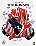 Houston Texans Autographed Glove 16x20 Photo with 23 Signatures