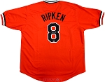 Cal Ripken Jr. Autographed Baltimore Orioles Orange Custom Jersey