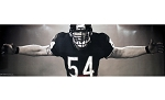 Brian Urlacher Unsigned Chicago Bears Bear Hug 19x72 Poster