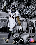 DeMarcus Ware Autographed Broncos Super Bowl 50 Sack 8x10 Photo