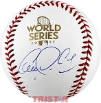 Carlos Correa Autographed 2017 World Series Baseball