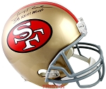 Jerry Rice Autographed San Francisco 49ers Full Size Helmet Inscribed SB XXIII MVP