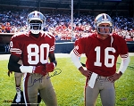 Jerry Rice Autographed San Francisco 49ers with Montana 16x20 Photo