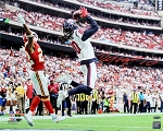 DeAndre Hopkins Autographed Houston Catch vs Chiefs 16x20 Photo