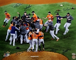 Houston Astros Autographed 2017 World Series Champs 16x20 Photo - 8 Signatures