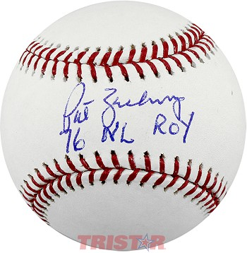 Pat Zachry Autographed Official Baseball Inscribed 76 NL ROY