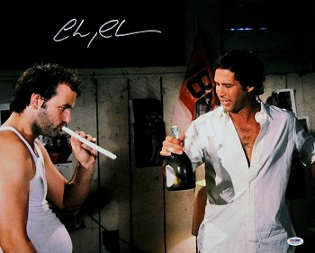 Chevy Chase Autographed Caddyshack Smoking w/ Bill Murray 16x20 Photo