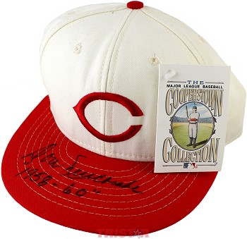 Don Newcombe Autographed Cincinnati Reds Cap Inscribed 1958-60