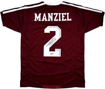 Johnny Manziel Autographed Texas A&M Aggies Maroon Custom Jersey