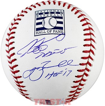 Craig Biggio & Jeff Bagwell Autographed Hall of Fame Baseball Inscribed HOF