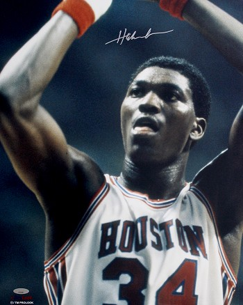 Hakeem Olajuwon Autographed Houston Cougars 16x20 Photo