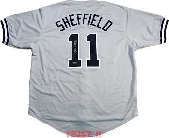 Gary Sheffield Autographed New York Yankees Custom Jersey