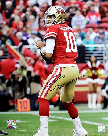 Jimmy Garoppolo Autographed San Francisco 49ers 16x20 Photo