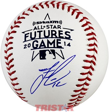 Francisco Lindor Autographed 2014 All-Star Futures Game Logo Baseball