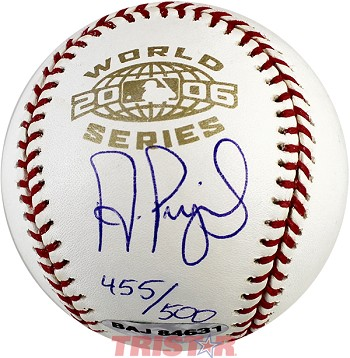 Albert Pujols Autographed 2006 World Series Baseball