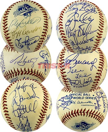 1987 Twins Team Autographed World Series Baseball – Kirby Puckett & 17 More