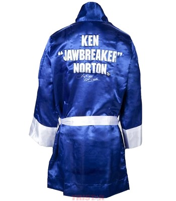 Ken Norton Autographed Custom Boxing Robe