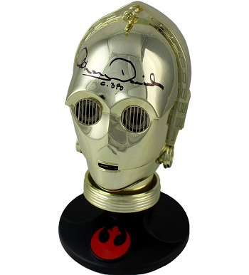Anthony Daniels Autographed 'Star Wars' C-3P0 See-Threepio Mini Helmet