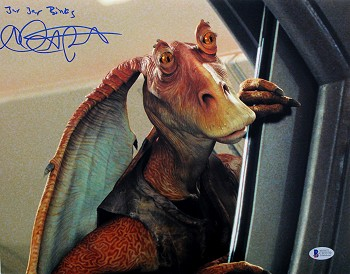 Ahmed Best Autographed 'Star Wars' 11x14 Photo