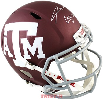 Trayveon Williams Autographed Texas A&M Aggies Full Size Replica Helmet