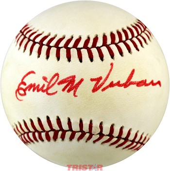Emil Verban Autographed Official AL Baseball