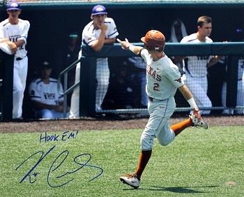 Kody Clemens Autographed University of Texas Longhorns 16x20 Photo Inscribed Hook Em!